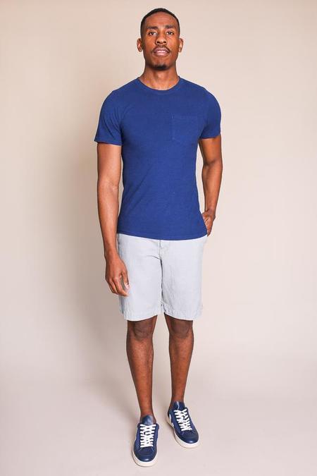 Jungmaven Baja Short Sleeve Pocket T-Shirt in Deep Indigo