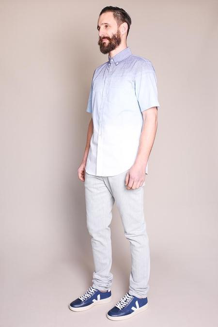 Outclass Fade Away Shirt in Blue/White Fade