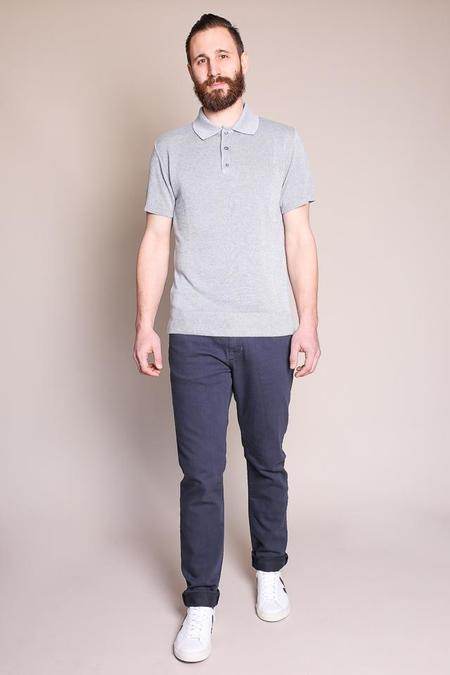 Outclass Knit Polo in Cool Grey