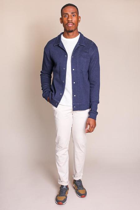 Oliver Spencer Rundell Jersey Jacket in Navy