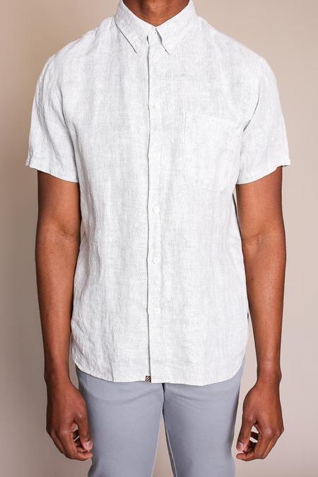 Billy Reid Tuscumbia Short Sleeve Shirt - Cream