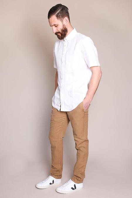 Outclass White Linen s/s Shirt