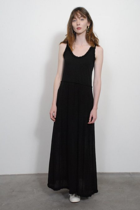 Raquel Allegra Pleated Medley Dress - Black