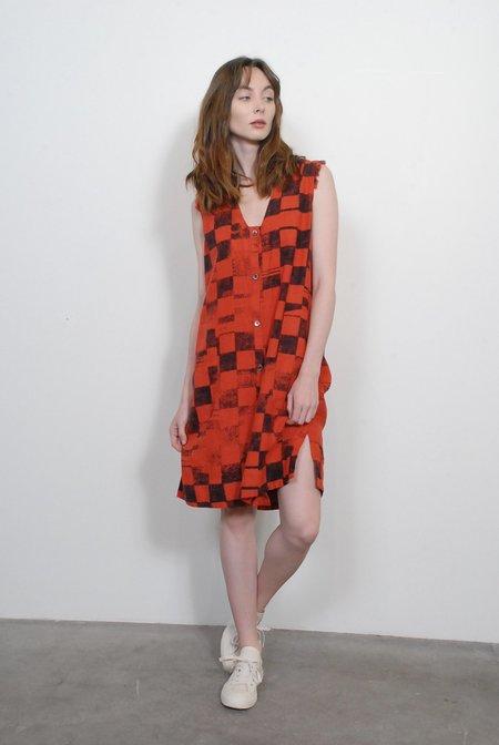 Raquel Allegra Tank Shirt Dress - Ruby Checker