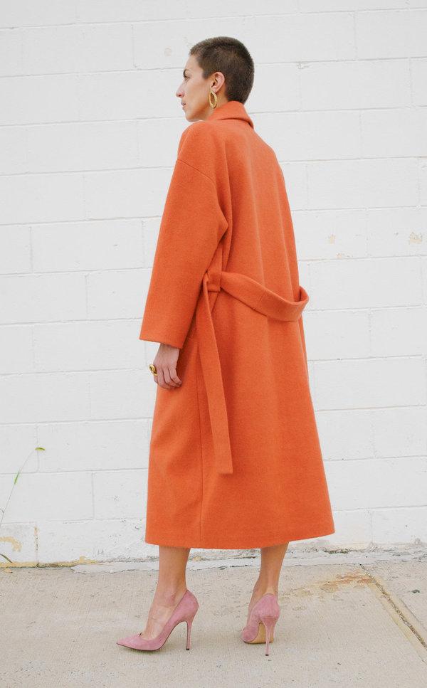 Lera Pivovarova Tomma Asymmetrical Collar Coat