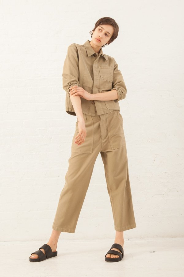 Caron Callahan Howell Pant in Khaki Twill