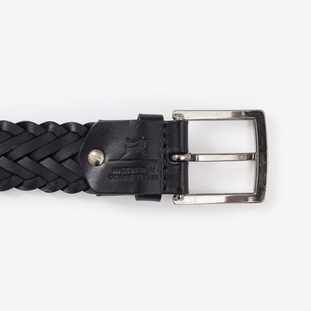 Rothirsch Braided Leather Belt - Black