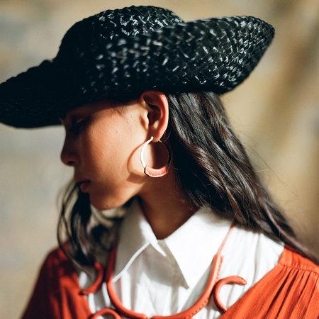 Crescioni Leather Kiva Earrings - Terra-cotta