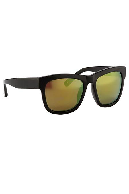 3.1 Phillip Lim Black Sunglasses with Multichrome Yellow Lenses
