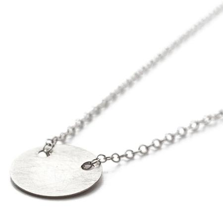 By Boe Silver Chain Necklace With Small Circle