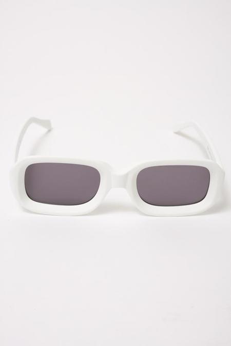 Illesteva White Vinyl Sunglasses