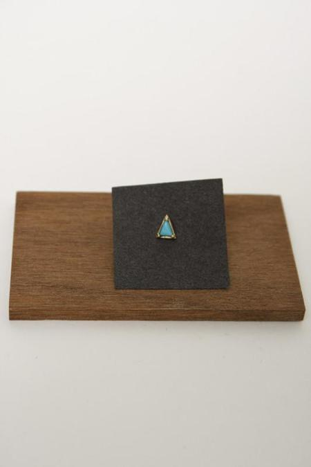 Mociun Triangle Single Stud - Turquoise