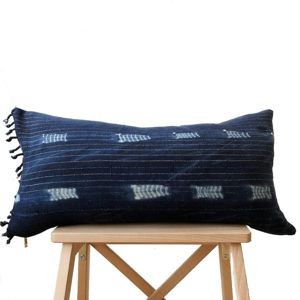 Valiente Goods Lumbar Indigo Pillow No.01