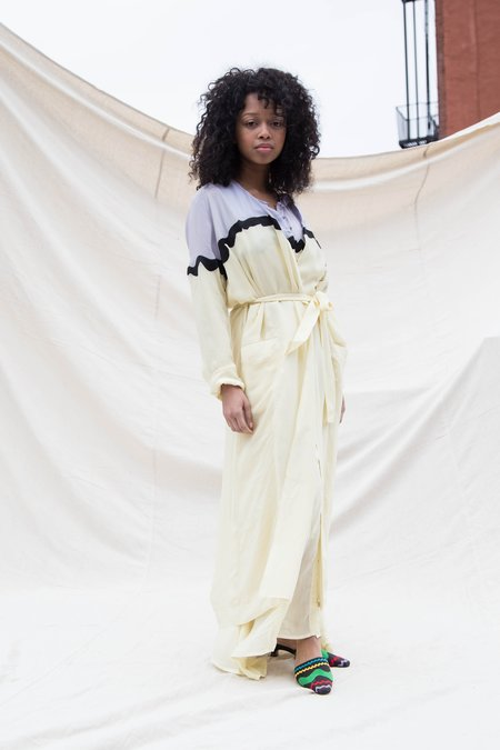 Nikki Chasin MORETTI BELTED ROBE JACKET - TARO/LEMON