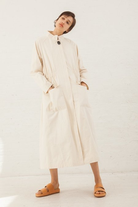 Samuji Knot Cotton Kisho Coat in Ecru