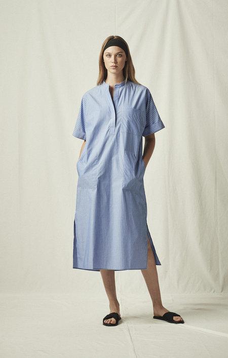 MIJEONG PARK LONG SHIRT DRESS - BLUE STRIPED