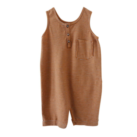 Kids Nico Nico Hill Romper Striped - Twig