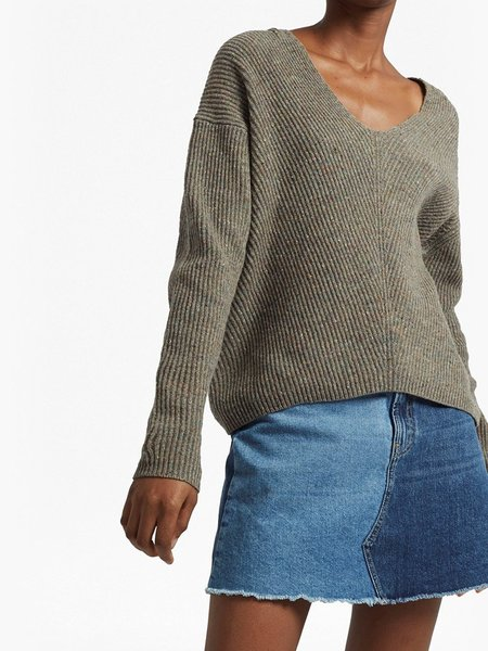 French Connection Tweed Knit in Silver Mink