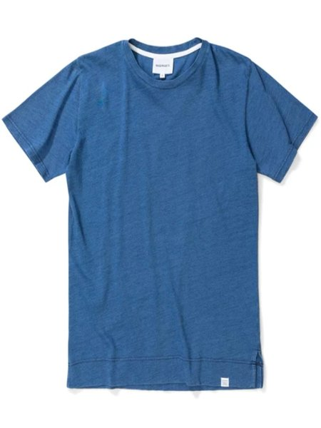 Norse Projects Niels Indigo T-Shirt in Light Indigo