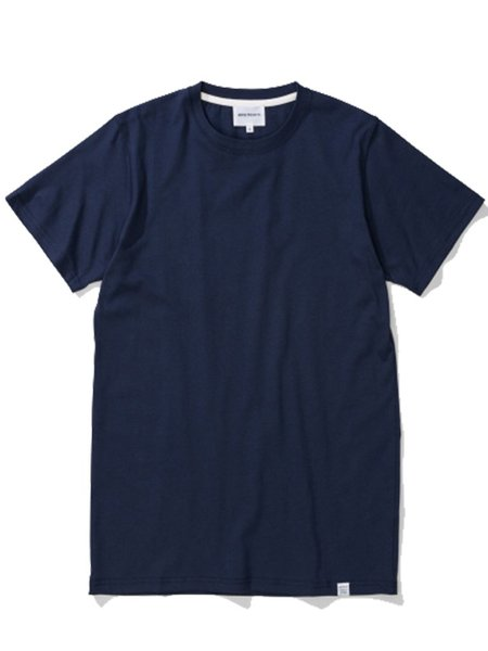 Norse Projects Niels Short Sleeved T-shirt in Navy