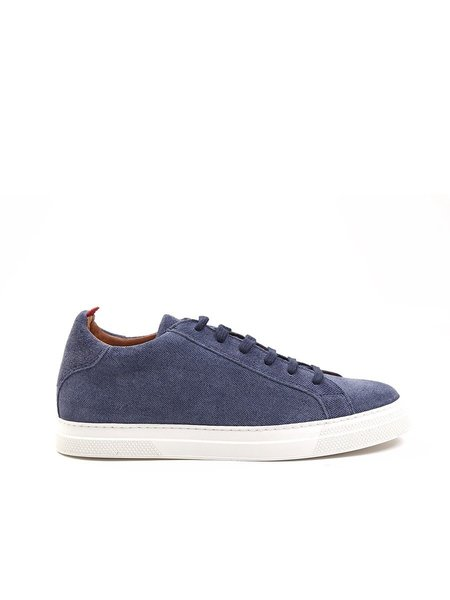 Oliver Spencer Ambleside Low-Top Suede Shoe in Blue