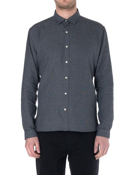 Oliver Spencer Clerkenwell Tab Shirt in Cohen Charcoal