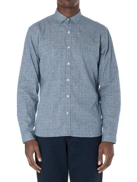 Oliver Spencer Clerkenwell Tab Shirt in Lawrence Navy