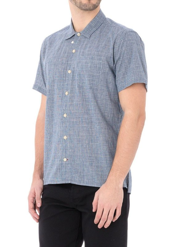 Oliver Spencer Hawaiian Lawrence Shirt in Navy