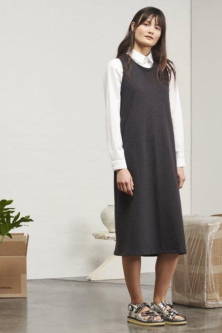Kowtow Building Block Twist Back Dress - Black Marle