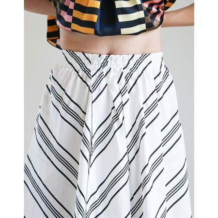 Apiece Apart Turkana Skirt in Sandalwood Stripe