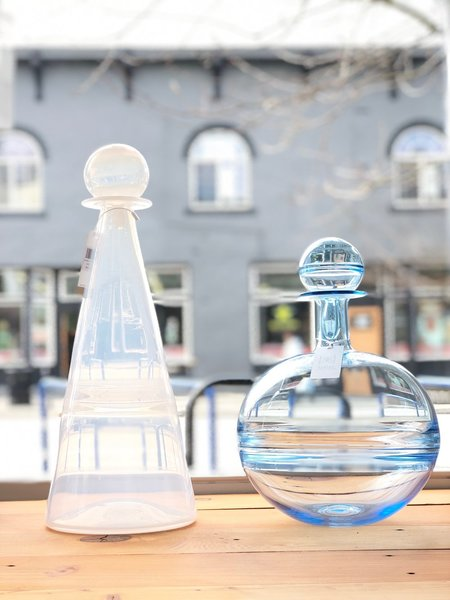 Mantle Handblown Glass Vessels