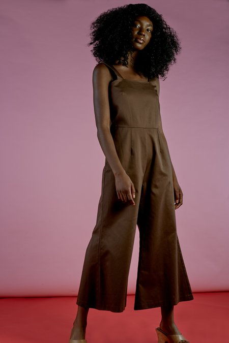 Wolcott : Takemoto Kate Jumpsuit In Mesquite Cotton