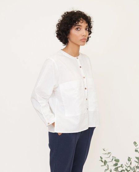 beaumont organic Bonnie white Linen shirt
