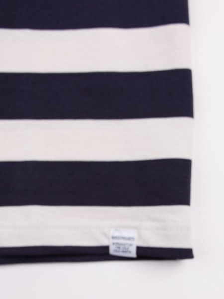 Norse Projects James Rugby in Stripe Navy