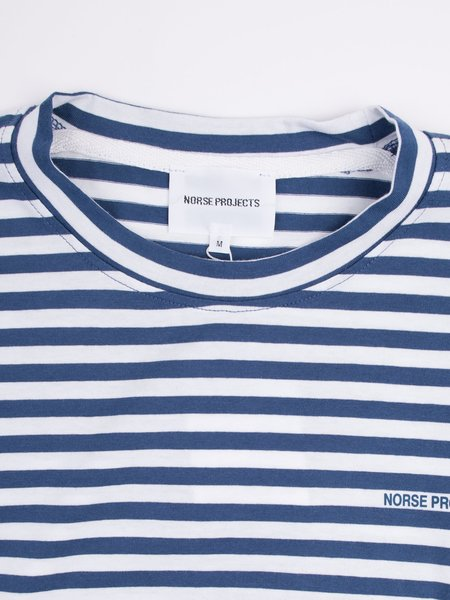 Norse Projects James Logo Stripe in Annodized Blue