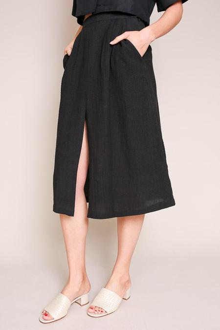 First Rite Pleated Skirt in Black