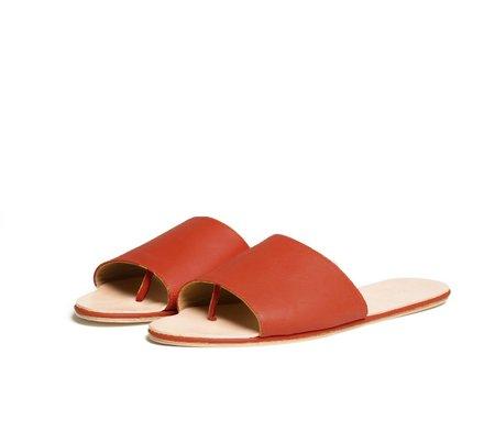 The Palatines caelum slide sandal - saffron textured leather