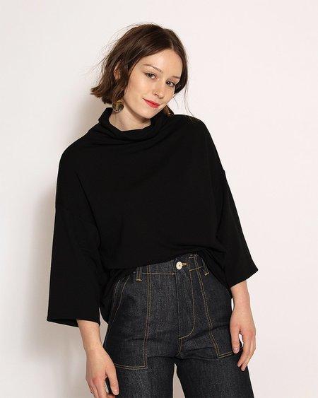 Corinne Bucket Sweater in Black
