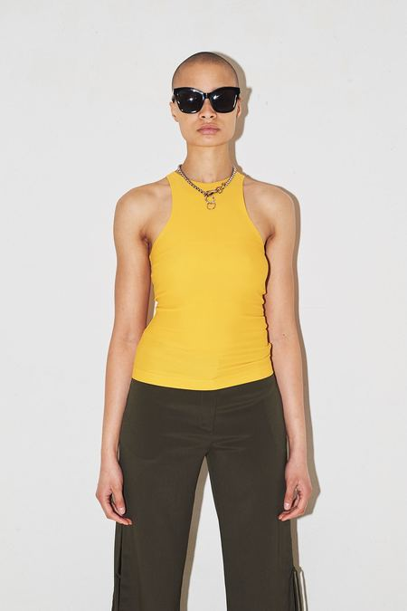 Assembly New York Spandex Swim Tank - yellow