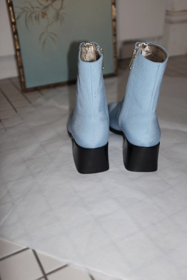 SUZANNE RAE Powder Blue Ankle Boots