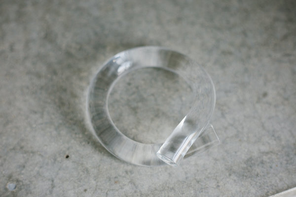 COREY MORANIS Thick Lucite Rod Bangle