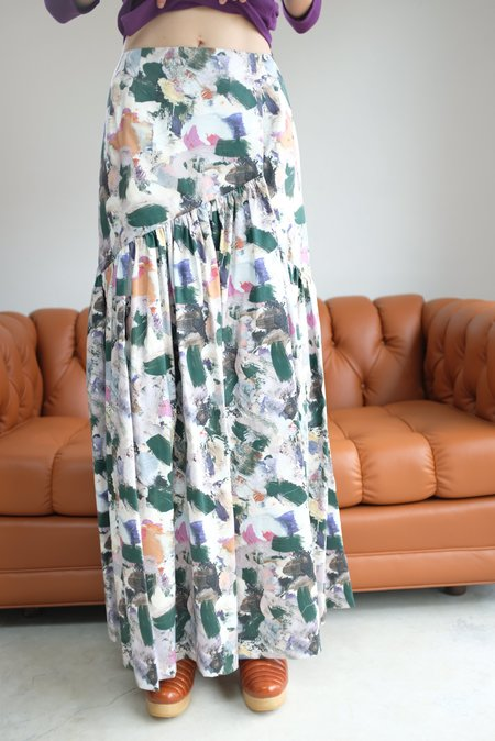 Christine Alcalay Gathered Maxi Skirt