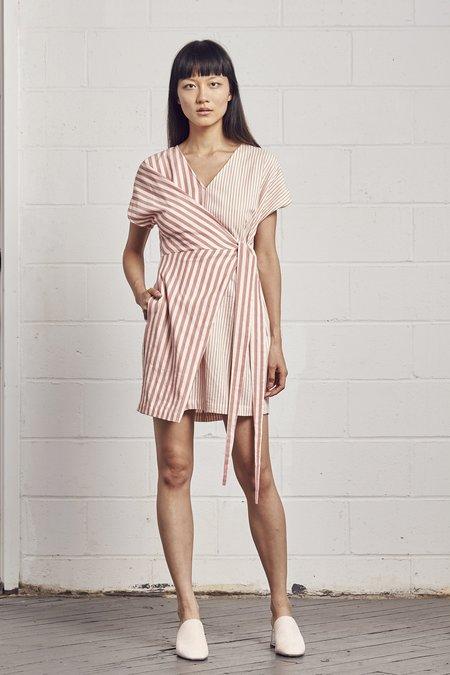 Rujuta Sheth Half Wrap Dress - Peony Stripes