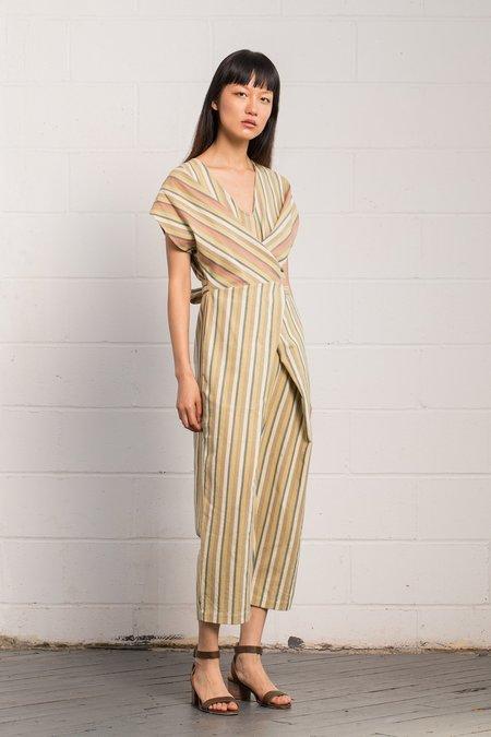 Rujuta Sheth Wrap Jumper - Multi Stripes