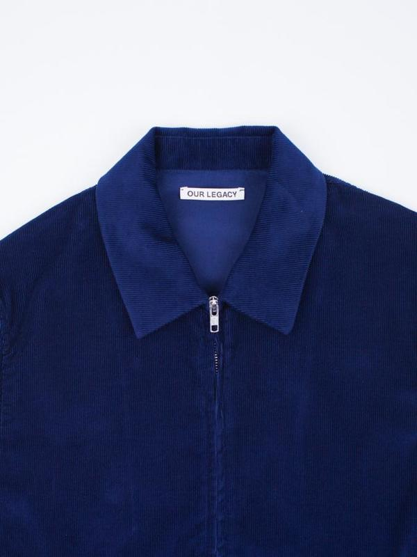 Our Legacy Fine Blouson Baby Cord Jacket - Royal Blue