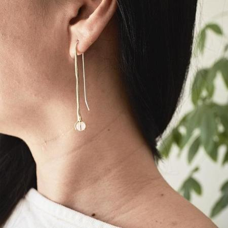 Odette New York Crystal Quartz Klint Earrings - Brass