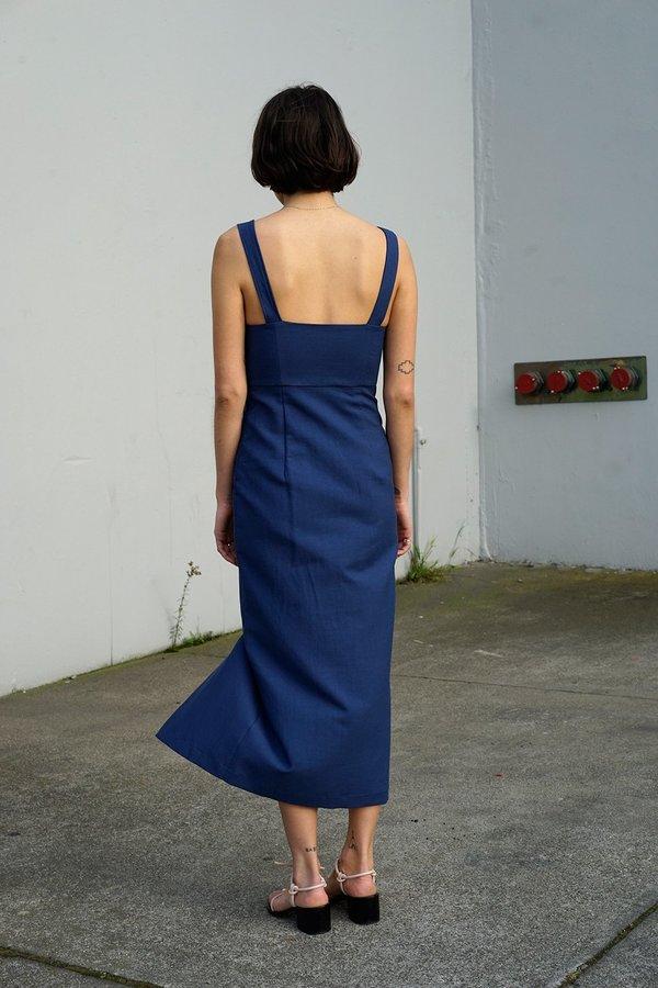 Waltz Bralette Dress in Blue Jean Baby