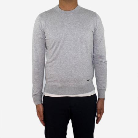 Woolrich John Rich & Bros. Pima Cotton Crewneck Sweater - Light Grey Melange