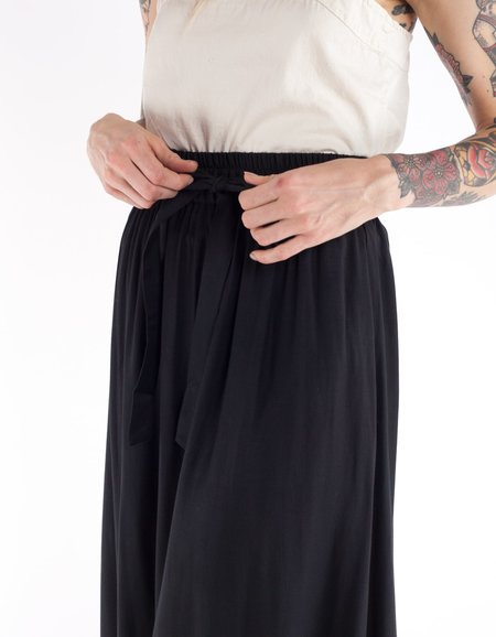 Ali Golden Drawstring Skirt - Black
