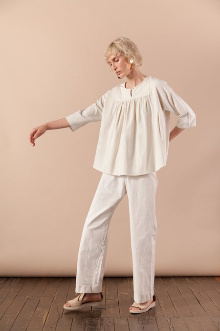 House Dress Weir Blouse - Ecru